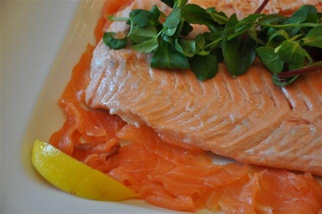 Smoked & poached salmon platter